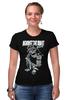 """Футболка Стрэйч (Женская) """"Art Horror"""" - skull, череп, ужасы, against, игральные кости"""