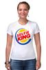 """Футболка Стрэйч (Женская) """"Король Селфи (Selfie King)"""" - пародия, foto, селфи, selfie, burger king"""