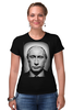 "Футболка Стрэйч (Женская) ""Путин"" - путин, putin"