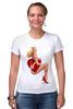 """Футболка Стрэйч (Женская) """"Блондинка"""" - сердце, сердечко, эротика, блондинка"""