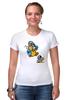 "Футболка Стрэйч (Женская) ""Breaking Bad x Mario"" - во все тяжкие, хайзенберг, гайзенберг, марио"