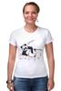 "Футболка Стрэйч ""панда"" - юмор, панда"