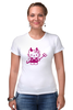 "Футболка Стрэйч (Женская) ""Hello Kitty Devil"" - hello kitty, devil"