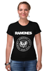 """Футболка Стрэйч (Женская) """"Ramones """" - punk, панк, ramones, рамонес, joey ramone"""