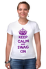 "Футболка Стрэйч ""Keep calm"" - swag, keep calm"