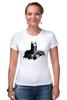 """Футболка Стрэйч (Женская) """"Бэтмен"""" - комиксы, batman, бэтмен, супергерой, dc comics, летучая мышь"""