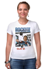 """Футболка Стрэйч """"Rocky / Рокки"""" - иероглифы, сталлоне, рокки, rocky, kinoart"""
