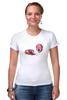 """Футболка Стрэйч (Женская) """"Веселые пончики"""" - веселые пончики, funny donuts"""