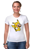"Футболка Стрэйч ""Mario x Pokemon"" - пародия, покемон, пикачу, марио, picachu"