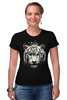"Футболка Стрэйч (Женская) ""Белый тигр"" - хищник, tiger, тигр, белый тигр, predator, white tiger"