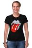 "Футболка Стрэйч (Женская) ""Rolling Stones x Mad Max"" - rolling stones, mad max, vanhalla"