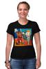 """Футболка Стрэйч (Женская) """"Basquiat/Жан-Мишель Баския"""" - граффити, корона, snoopy, basquiat, баския"""