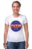 """Футболка Стрэйч """"Путина в президенты Америки (2016)"""" - usa, патриот, путин, президент, putin"""