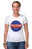 "Футболка Стрэйч (Женская) ""Путина в президенты Америки (2016)"" - usa, патриот, путин, президент, putin"