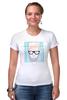 """Футболка Стрэйч (Женская) """"Hipsta please"""" - очки, модные, хипстер, hipster, модный, хипстота, please"""