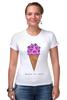 """Футболка Стрэйч (Женская) """"Diamond ice cream"""" - арт, мороженое, ice cream, diamond"""
