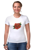 "Футболка Стрэйч (Женская) ""Tattoo rose"" - tattoo, роза, татуировка, тату"