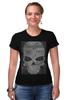 """Футболка Стрэйч """"grunge skull"""" - skull, череп, hand-made"""