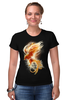 "Футболка Стрэйч ""Феникс"" - арт, огонь, птица, абстракция, феникс, phoenix"