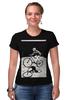 """Футболка Стрэйч (Женская) """"девушка на велосипеде"""" - спорт, bmx, велосипед, street, bike, стрит, велоспорт, дерт, фрирайд, freeride"""