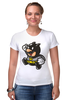 "Футболка Стрэйч ""Batman x Mario"" - batman, бэтмен, mario, марио"