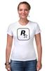 """Футболка Стрэйч (Женская) """"Rockstar"""" - авторские майки, games, игры, игра, game, gamer, gta, rockstar, рокстар, rockstar games"""
