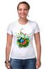"""Футболка Стрэйч (Женская) """"Бабочка"""" - бабочка, лето, цветы, отдых, природа, путешествия, экзотика, тропики"""