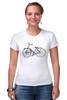 """Футболка Стрэйч (Женская) """"Велосипед"""" - bicycle, велосипед"""