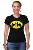 """Футболка Стрэйч (Женская) """"Бэтмен (Batman)"""" - пародия, batman, бэтмен"""