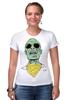 "Футболка Стрэйч (Женская) ""Психоделика"" - zombie, зомби, green, shades"