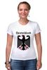 """Футболка Стрэйч (Женская) """"Германия"""" - страны, герб, символика, германия"""