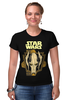 """Футболка Стрэйч (Женская) """"star wars"""" - star wars, dark side, звёздные войны, гривус"""