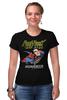 "Футболка Стрэйч (Женская) ""Супермен"" - супермен, комиксы, superman, супергерои"
