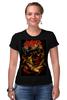 """Футболка Стрэйч (Женская) """"Slayer thrash metal band"""" - skull, череп, heavy metal, slayer, thrash metal, трэш-метал"""