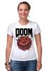 """Футболка Стрэйч (Женская) """"Doom game """" - games, игра, game, doom, 90's, video games, дум, игы"""