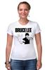 """Футболка Стрэйч (Женская) """"Bruce Lee"""" - karate, bruce lee, fighter, карате, брюс ли"""