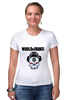 "Футболка Стрэйч (Женская) ""Skull WOT "" - skull, череп, games, игры, игра, game, логотип, world of tanks, танки, wot"