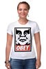 "Футболка Стрэйч ""obey."" - obey, street art, contemporary"