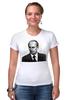 """Футболка Стрэйч (Женская) """"Putin"""" - россия, путин, президент, putin, president"""