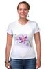 """Футболка Стрэйч (Женская) """"Розовая орхидея"""" - акварель, орхидея, розовый цветы"""