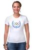 """Футболка Стрэйч (Женская) """"Sochi 2014"""" - olympic games, sochi 2014, сочи 2014, олимпийские игры"""