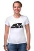 """Футболка Стрэйч (Женская) """"Arctic Monkeys"""" - uk, arctic monkeys, indie rock, инди-рок, арктические мартышки"""