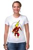"Футболка Стрэйч (Женская) ""The Flash (Молния)"" - flash, молния, dc, флэш"