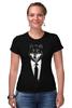 "Футболка Стрэйч (Женская) ""Мистер Волк"" - стиль, волк, wolf, бизнес, suit"