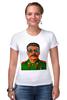 """Футболка Стрэйч (Женская) """"Сталин"""" - вождь, сталин, stalin"""