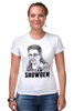 "Футболка Стрэйч ""Edward Snowden"" - америка, россия, цру, эдвард сноуден, edward snowden"