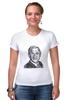 "Футболка Стрэйч (Женская) ""Буш Джорж"" - знаменитости, george bush, president"