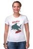 "Футболка Стрэйч (Женская) ""Акула (Baywatch)"" - акула, спасатели малибу, baywatch"