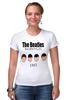 """Футболка Стрэйч (Женская) """"The Beatles 1963 """" - rock, england, великолепная четвёрка"""