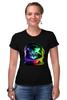 """Футболка Стрэйч (Женская) """"Astronaut Cat"""" - арт, space, космос, кошки, astronaut cat"""